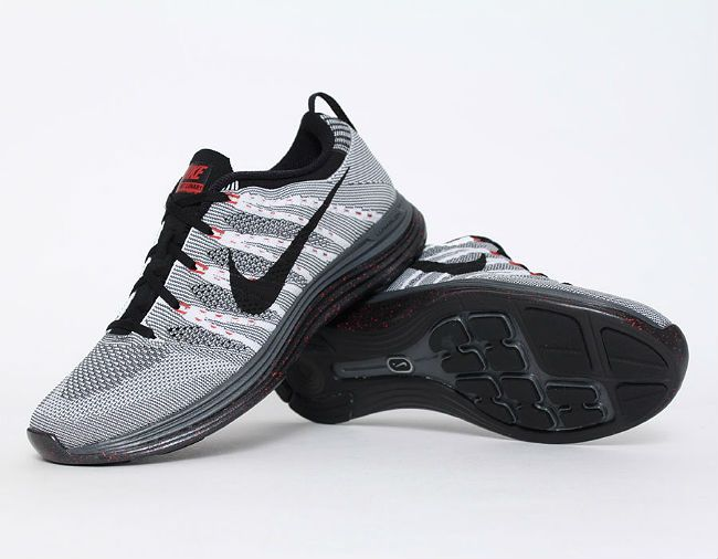 Nike Flyknit Lunar 1; Nike Flyknit Lunar 1 + Grey Red