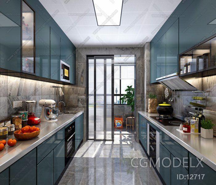 Scandinavian Kitchen 3d Model Interior Design Ideas Kitchen 3d