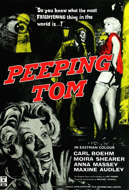 Peeping Tom (1960). Not sure if this was before or after Psycho, but it certainly seems like it was influenced by it. I really liked the lead actor, Carl Boehm. Probably worth checking out. Thumbs up.