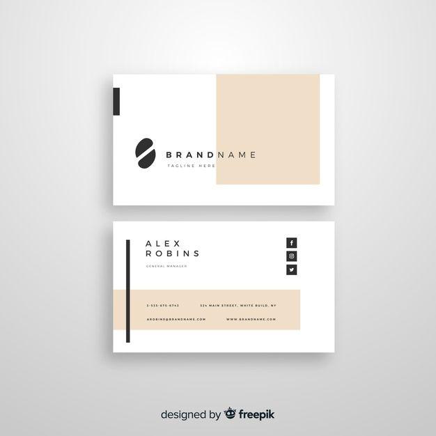 Business Card Template Business Card Design Minimal Graphic Design Business Card Simple Business Cards