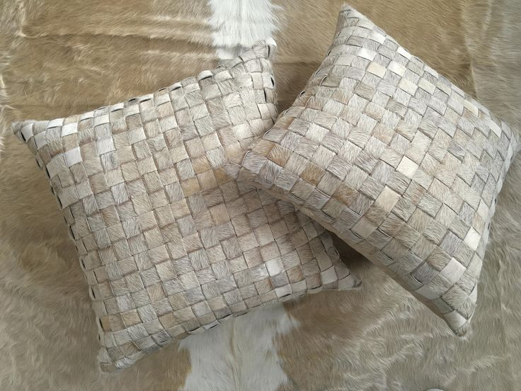 """Fantastic 20"""" hand made basketweave real hair on cowhide pillow cover in natural beige - FREE SHIPPING in USA and Canada Hygge Scandi modern http://etsy.me/2om6Thk #housewares #homedecor #beige #housewarming #entryway #gauchocollection #cowhide #western #cushion"""