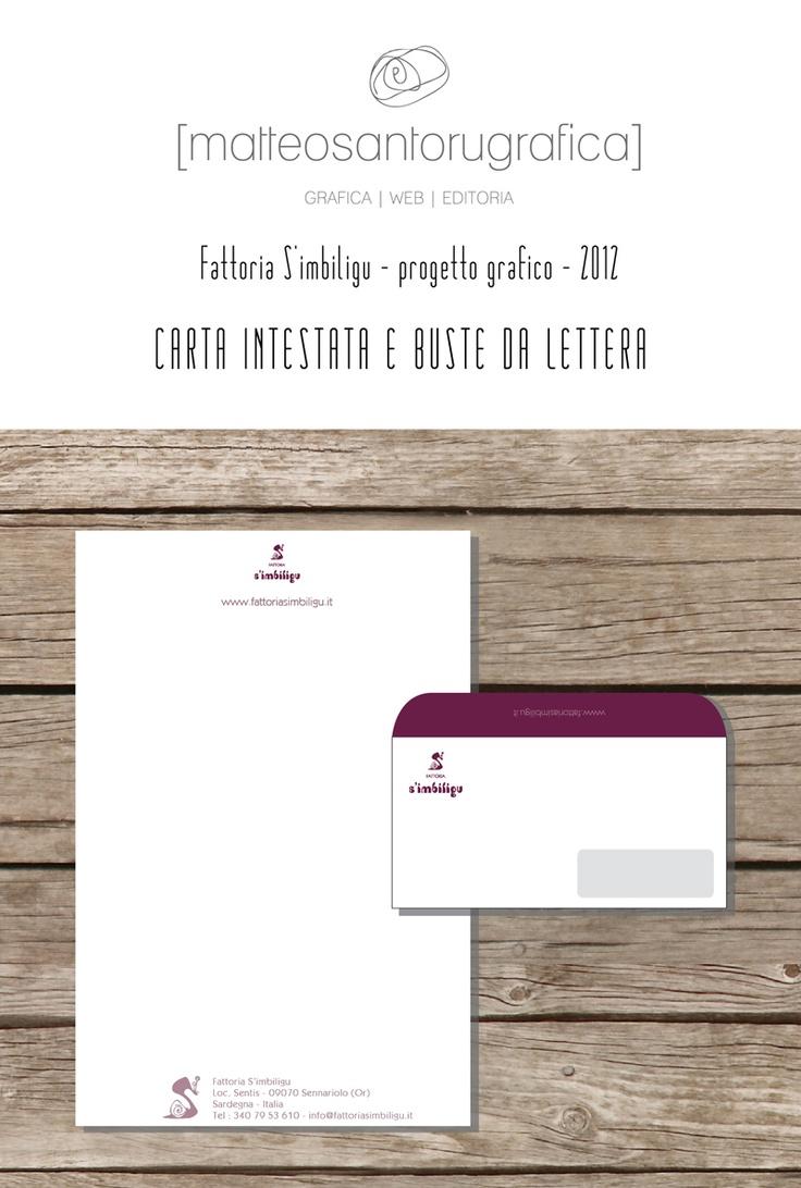 S'imbiligu - Busta da lettera e carta intestata