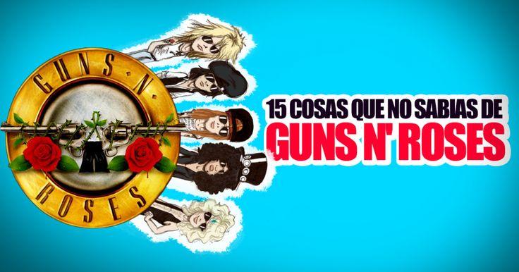 Guns N'Roses es, formalmente, la primera súper banda de rock duro que se presentó en la escena mexicana.Esta semana se confirmó su regreso a los escenarios, por este motivo te comparto un video conanecdotas y curiosidades de esta increible banda.