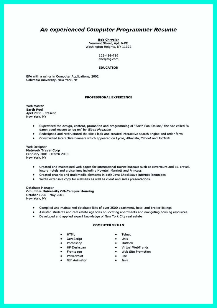 Best Resumes Images On   Sample Resume Resume