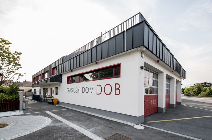 Krajevni dom Dob is our most recent finished project. It has been under construction for 3 years due. It is divided on 3 units. First unit belongs to local Fire Department with a large garage which can fit up to three Firefighting vehicles. Second unit belongs to local Kindergarten which opens its doors this fall. And the third unit belongs to the local community with the large multi-purpose hall for 100 people.