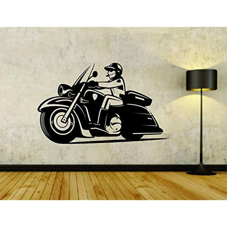 wall vinyl decal police motorcycle unit cop logo decor on wall logo decal id=78133