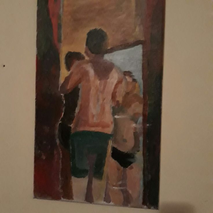In the mirror, painted by Ida Beate Serendahl 27.07.2017 acryl on canvas