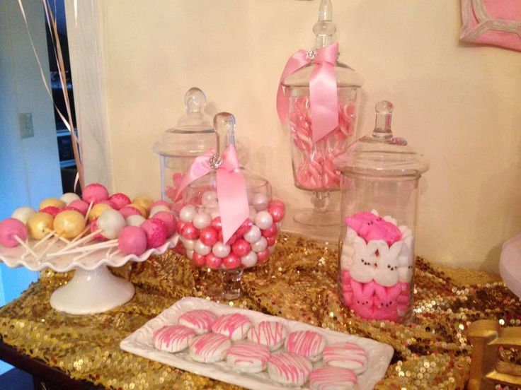 Pink and gold Baby Shower Party Ideas   Photo 1 of 57   Catch My Party