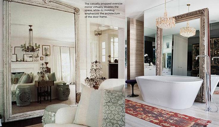 Design And Lifestyle New York Big Oversized Floor Standing Mirror In Interior