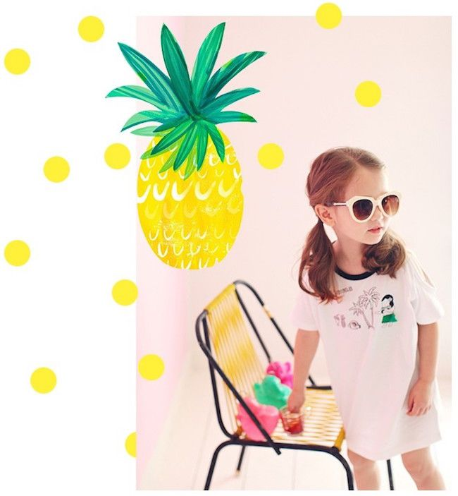 Summer Collection #Annika - TROPICAL COOL ONE-PIECE #summer #sunshine #Hawaii #pineapple #fun #sweet #dress #childrensfashion #kidsfashion #childrenclothes #kidsclothes #onlinestore #CandyRainbow