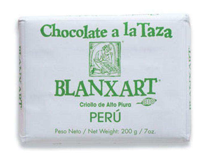 Blanxart 200g. Ciocolata calda, BIO, pura, cacao Peru, cu scortisoara