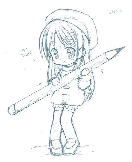Anime Chibi Drawings Pencil 17833code.png | Projects to ...