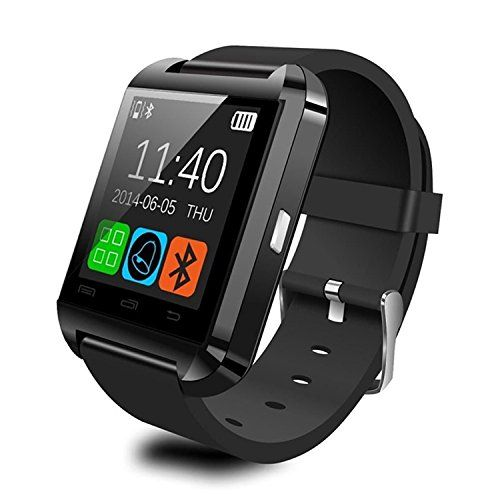 Smart Watch, GOLDSTAR Bluetooth Smartwatch Wristband Phone watch with Sports Pedometer Touch Screen for Android OS Samsung S7 Note 7 HTC Sony LG Blackberry Huawei Smartphone (Black)