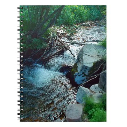 Wild Forest River Notebook - photography picture cyo special diy