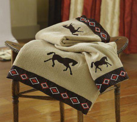 Western Horses Bathroom Towel Set