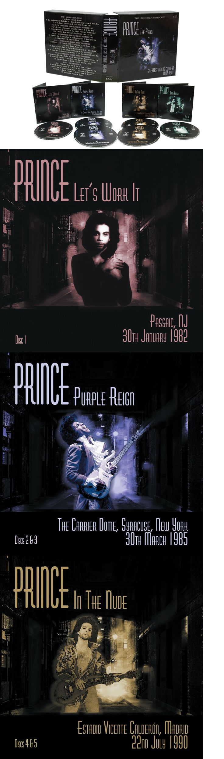 Music Albums: Prince - The Artist: Greatest Hits In Concert Live 1982-1991- 6 Cd Box Set -> BUY IT NOW ONLY: $39.95 on eBay!