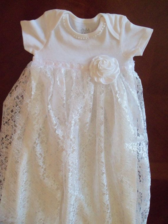 Baby Gown Lace Dress Baby Dress Fancy by mariahcreations on Etsy