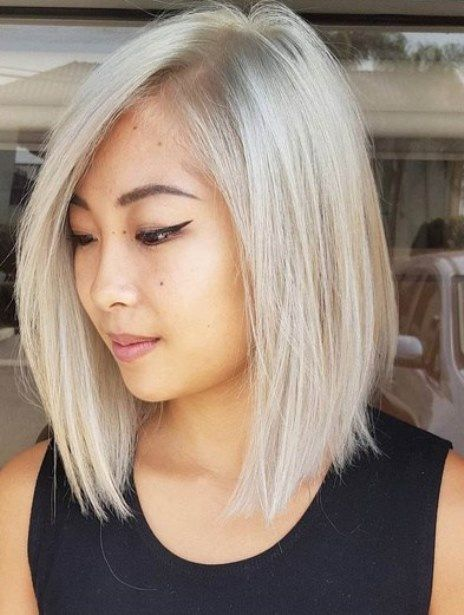 Shoulder Length Silvery Bob- Sholder Length haircuts