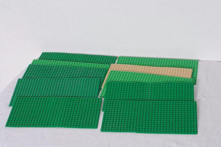 10 Pieces LEGO Assorted Colors 16 x 32 Dot Platforms Building Base Plates Lot #LEGO