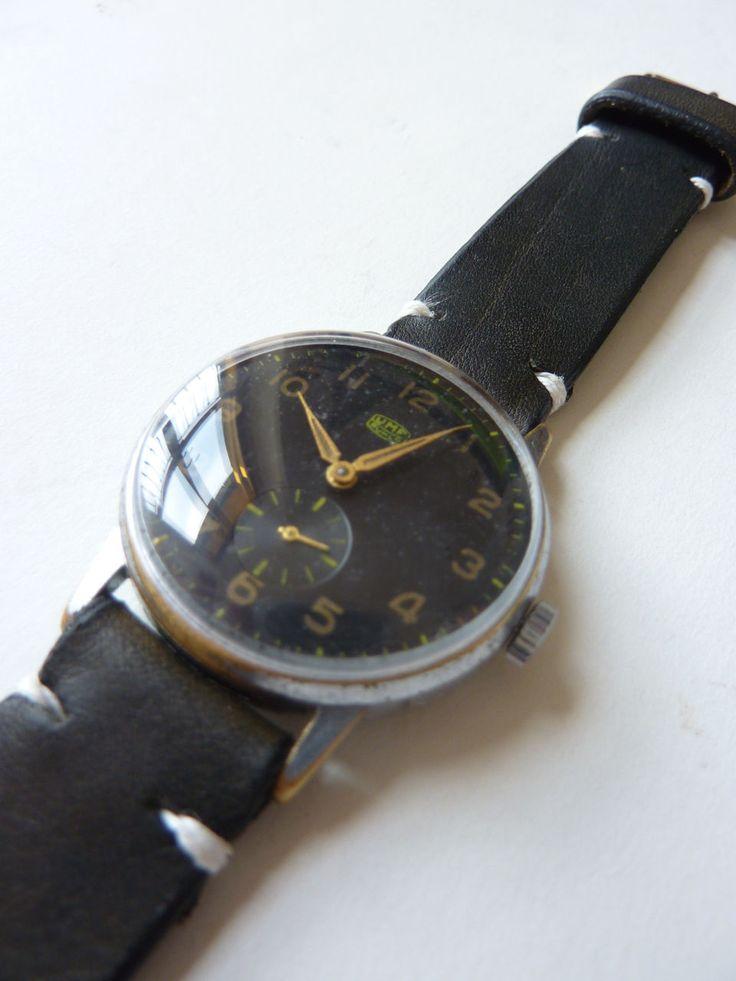 UMF RUHLA 15 Rubis Militär Armbanduhr Military watch mit handmade lederarmband in Uhren & Schmuck, Armband- & Taschenuhren, Armbanduhren | eBay