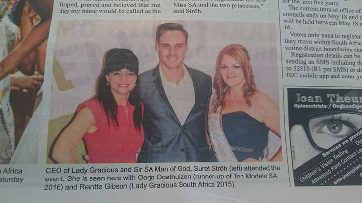 Gerjo Oosthuizen our Top Model South Africa male runner-up for 2016!