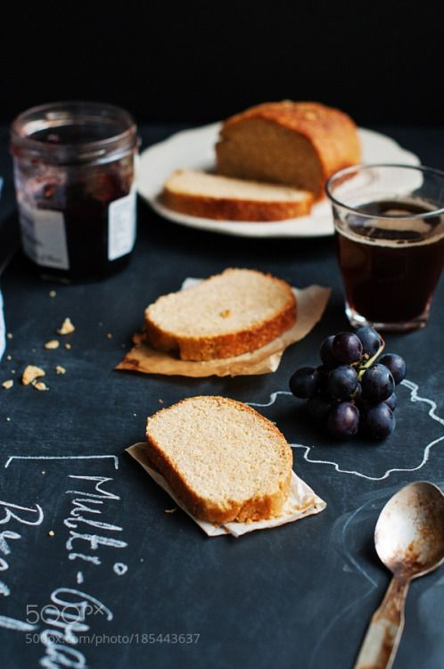 Multi Grain bread on a chalkboard background by anshu_si  IFTTT 500px