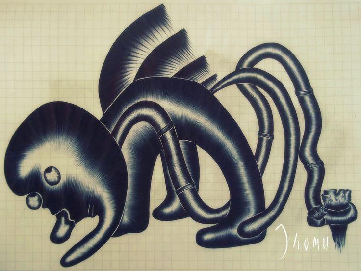 """Atadura"" Bolígrafo Bic Negro 28*20 cm"