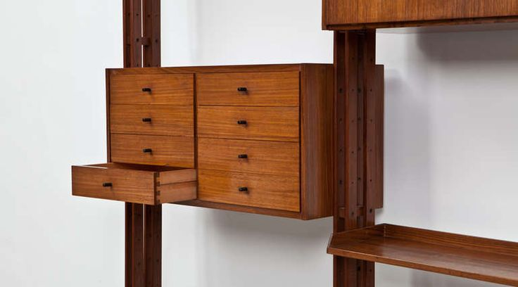Franco Albini Library Manufactured by Poggi | From a unique collection of antique and modern bookcases at https://www.1stdibs.com/furniture/storage-case-pieces/bookcases/
