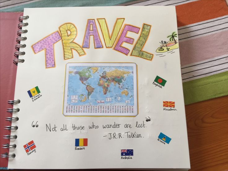 Travel Journal front page