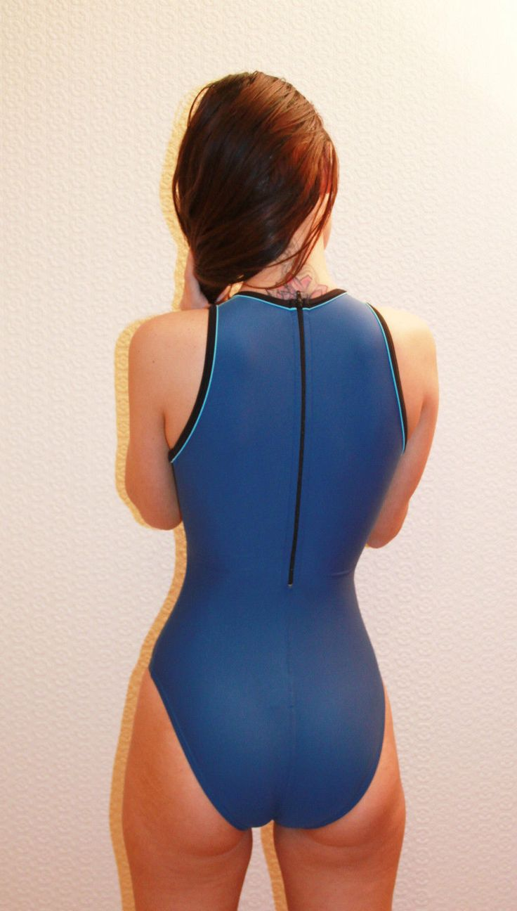 Details about Blue Speedo Hydrasuit Highneck Racing Diving ...