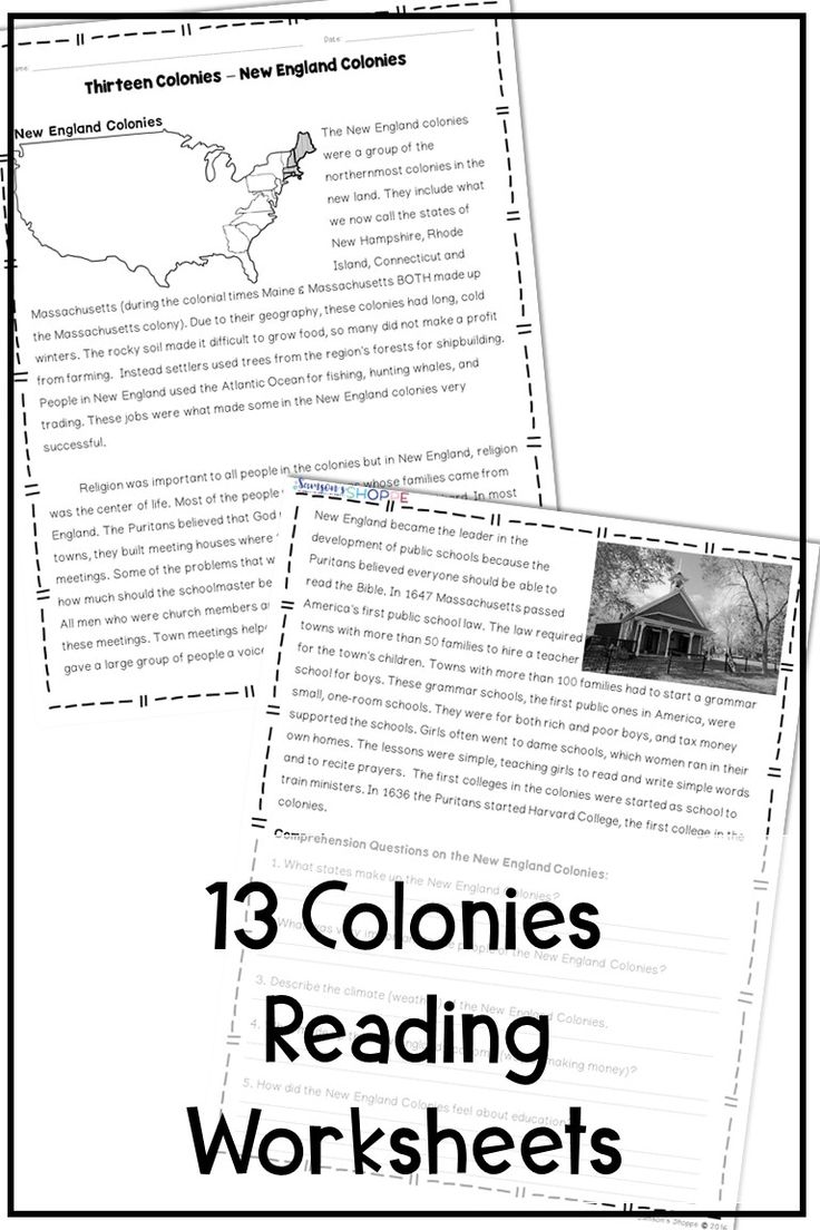 13 Colonies New England, Middle and Southern Nonfiction ...