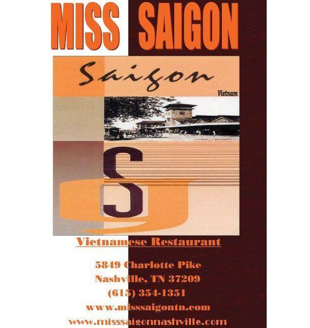 Miss Saigon Vietnamese Restaurant, Nashville TN
