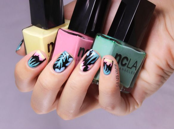 Sneakers inspired Nail Art - Tropical Asos 5 - NPA MOUTON