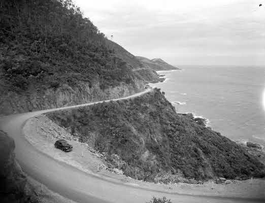 1951 Coastal scene, Great Ocean Road. VicRoads Centenary 1913-2013.