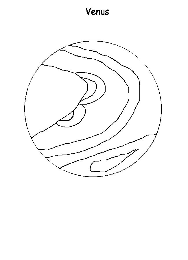 Kindergarten Astronomy - Venus coloring page. Modified the ...