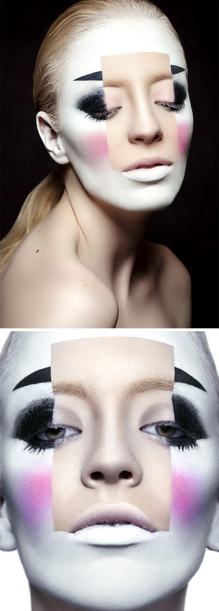 Day of the Dead Makeup: Use face paint to create this look that can be used for Dia de los Muertos or Halloween.