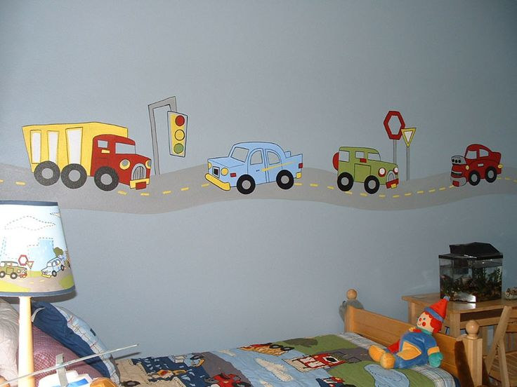 Love The Cars And Trucks Decals! I Would Leave Out The Creepy Clown Doll  Though ;. Find This Pin And More On RJu0027s Big Boy Room Ideas ... Part 82