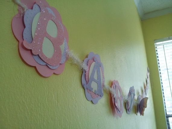 Baby Shower Butterfly and Flowers Banner