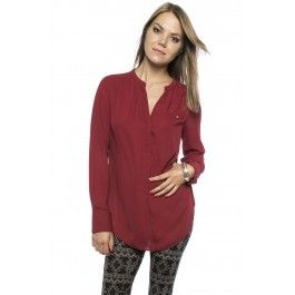 Long sleeve pop-over blouse