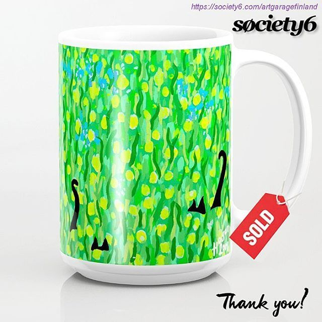 Sold! ..thanks to the two buyers of this 'Two Black Cats' 15oz mug design from my Society6 webstore. #sold #society6 #cats #blackcats #mug #twoblackcats #art #green #coffeemug #tails #catstails #two #doubletrouble #instacats #catlover #catlovers #pets #pet #instagreen #instaart #catdesign #dots #painting #artist #giftideas #shareyoursociety6 #s6mug #cup #blackcatsrule #blackcat