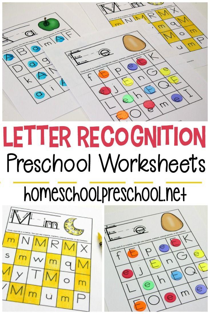 Free Printable Letter Recognition Worksheets For Preschoolers