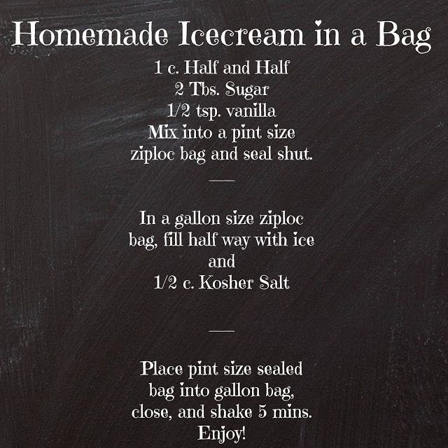 The Niewald Kitchen Table : Homemade Ice Cream in a Bag