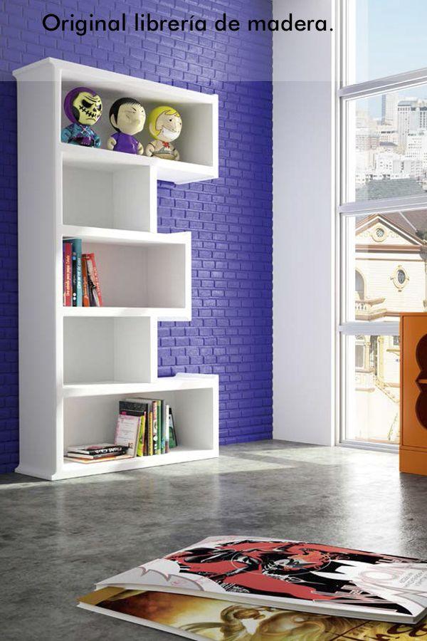 ⇨ Librería de madera de estilo moderno Valencia - Muebles ...
