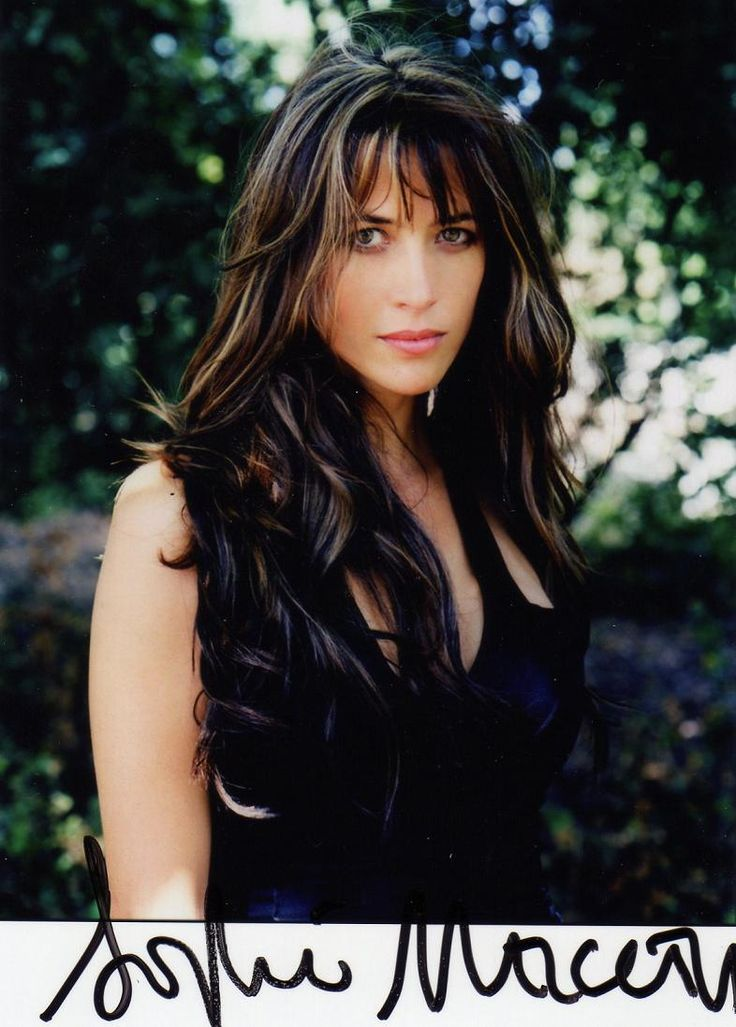 Sophie Marceau (French actress since 1980 La Boum) (b. 1966 Nov 17) depicted autographed sultry • also author/screenwriter/director • starred in Braveheart (1995) + Firelight (1997) + The World Is Not Enough (1999) • proof of the American, hm, French Dream: sublime beauty & career born from shop assistant mother Simone & truck driver dad Benoît Maupu, divorced when 9–could've easily fallen into depression as actress/singer Isabelle Adjani (b. 1955) • married to Christopher Lambert! 2012
