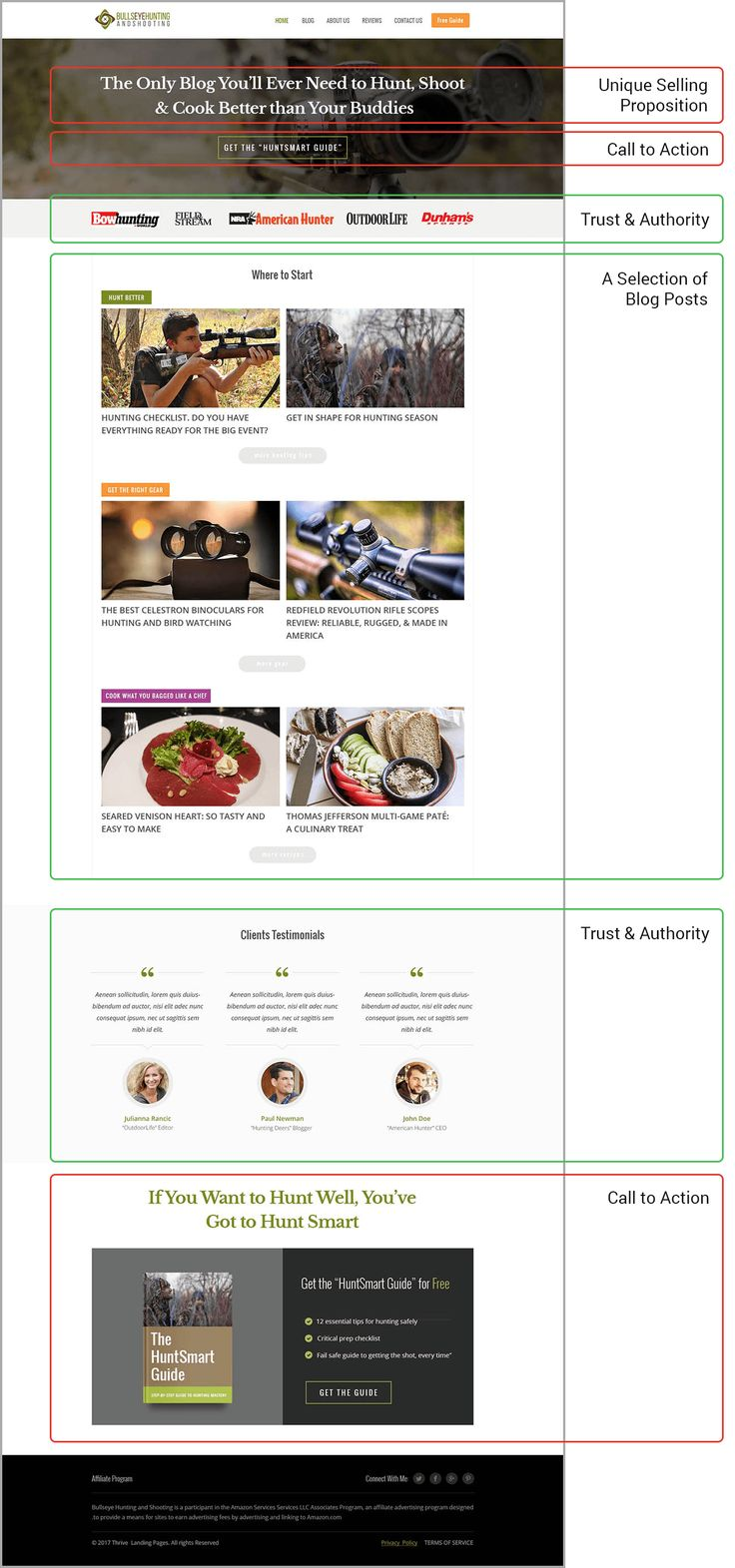 Your blog's homepage is one of the best places to segment your audience, get email address and build trust. You just need this simple recipe...