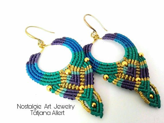 Hey, I found this really awesome Etsy listing at https://www.etsy.com/listing/486840646/macrame-earrings-wire-and-brass-beads