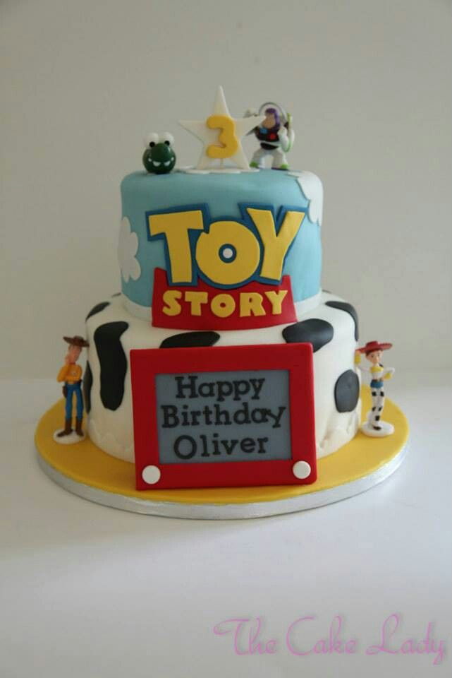 Toy Story Cake @INDI Interiors Zipperer I'm thinking this one instead of small cake with cup cakes.
