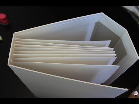 Como hacer un Binding con bolsillos muy resistente para Álbum Scrapbooking y maquina de sobres - YouTube