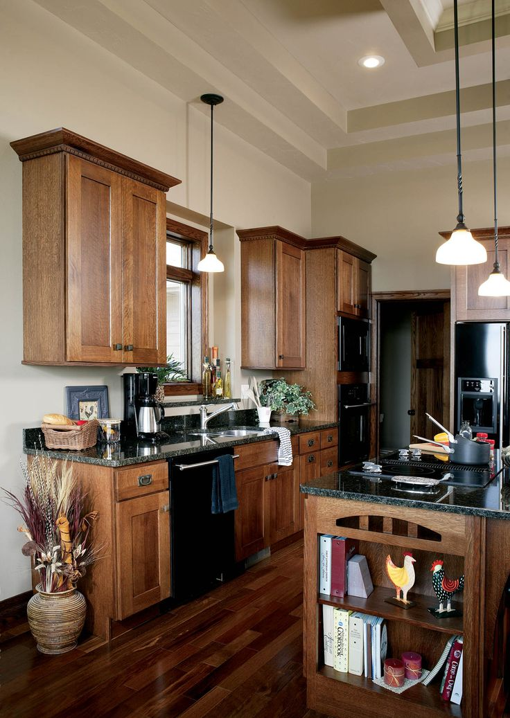 Stained kitchen cabinets in Autumn with Ebony Glaze by ...