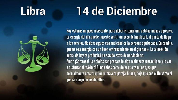 Horóscopo de Hoy: Libra 14 de Diciembre, 2014